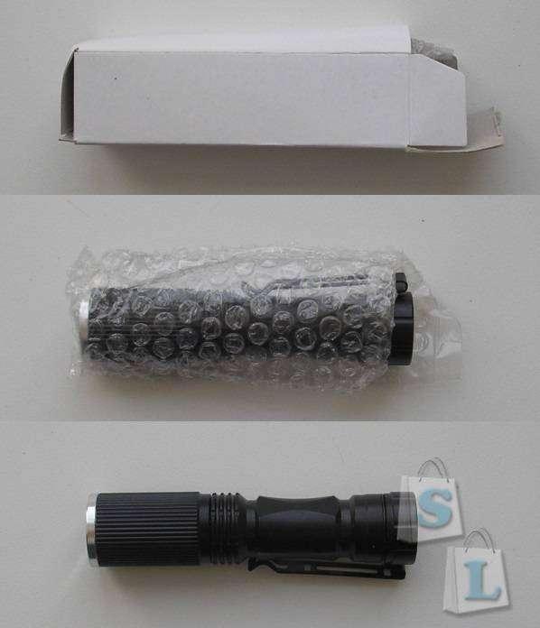 Geekbuying: Фонарик CREE XPE-Q5 600 Lumens 7W (1 x 14500 / 1 x AA)