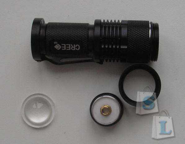 TinyDeal: Фонарик SK68 CREE Q5 3W 1-Mode Zoom (1 x AA)