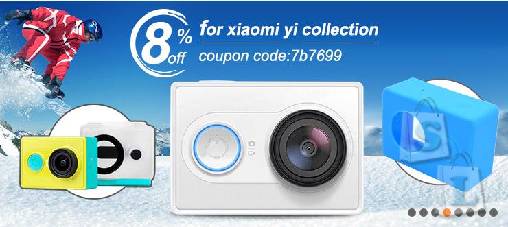 Новый купон для Xiaomi Yi от Banggood