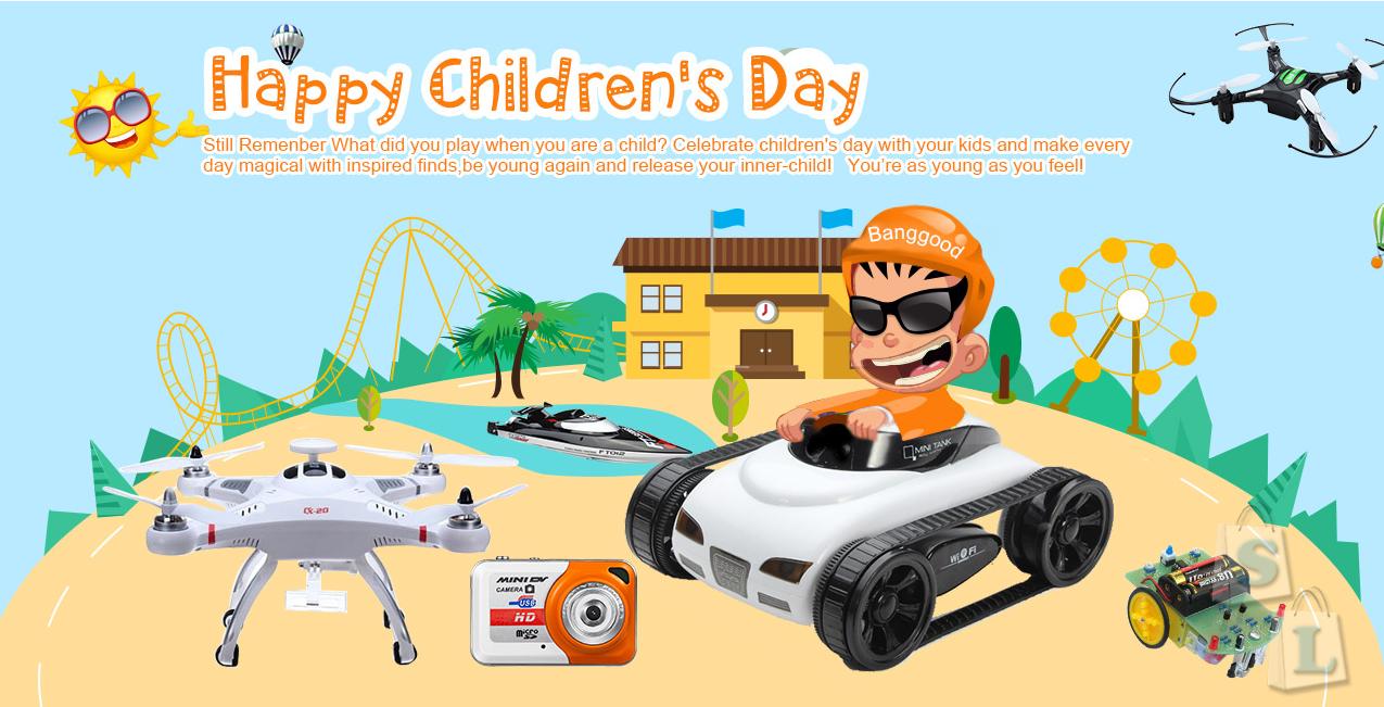 Новый конкурс! Поздравления с днем защиты детей!Подарки от Banggood!