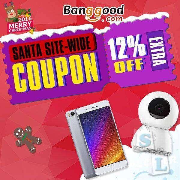 Новогодние акции от Banggood.com.