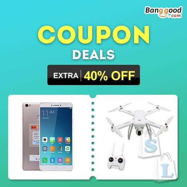 Banggood: Очень много купонов и брендов. Скидка до 60%!