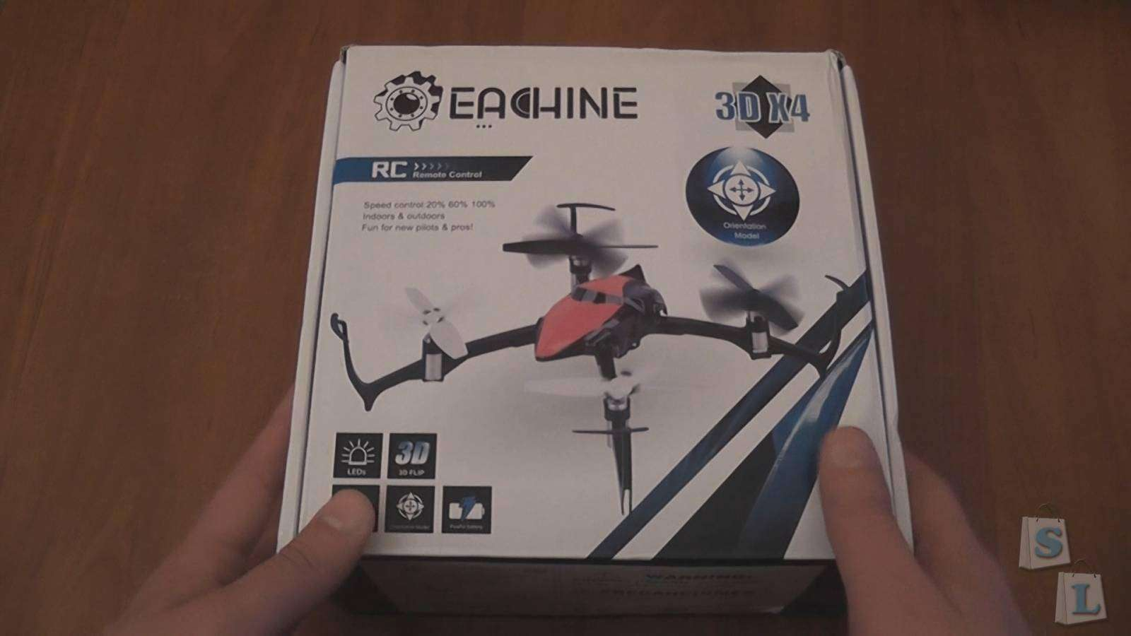 Banggood: Eachine 3D X4 (CG027) 2.4GHz, 4Ch, 6 Axis Gyro, RC Quadcopter with LED (RTF)