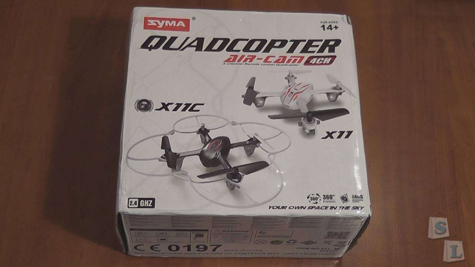 Lightake: Syma X11 2.4GHz, 4Ch, 6 Axis Gyro, RC Quadcopter (RTF)