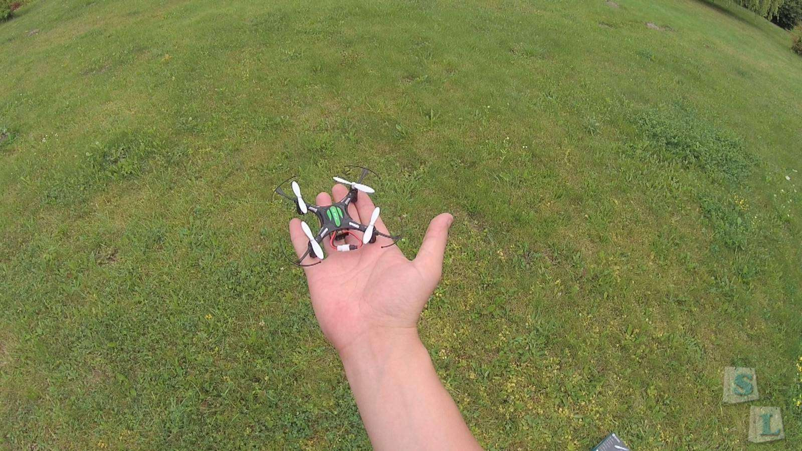 Banggood: Eachine H8 mini 2.4GHz, 4Ch, 6 Axis Gyro, RC Quadcopter with Headless Mode (RTF) + Испытание водой