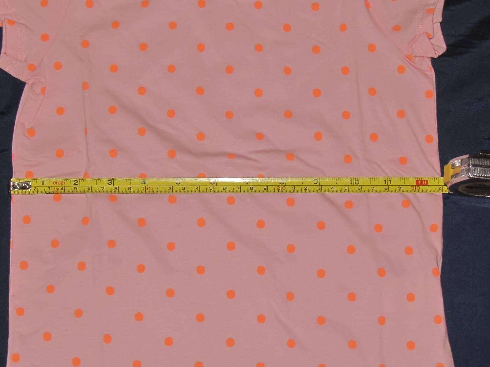 Childrens Place: Розовая в горошек футболочка для девочки 5-6 лет, размер S