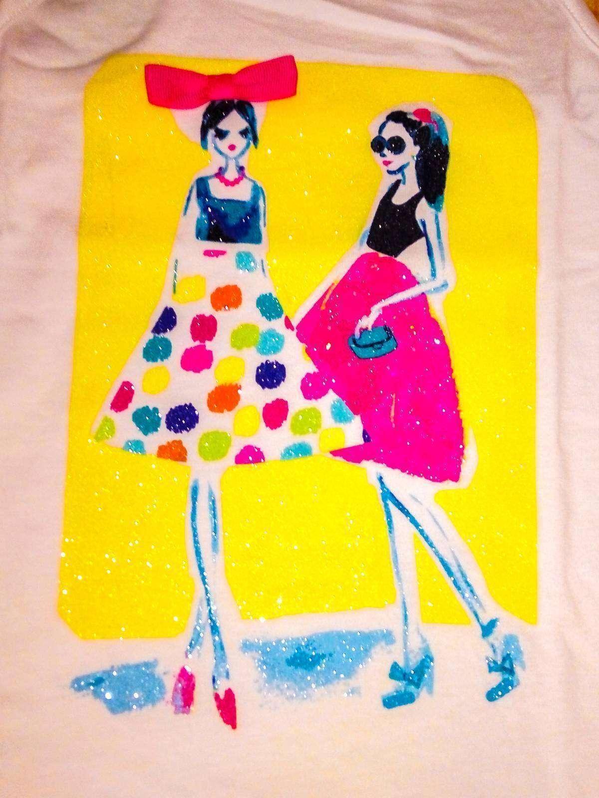 Cabelas: Легкая маечка с ярким принтом и бантиком на девочку, размер S (5-6)