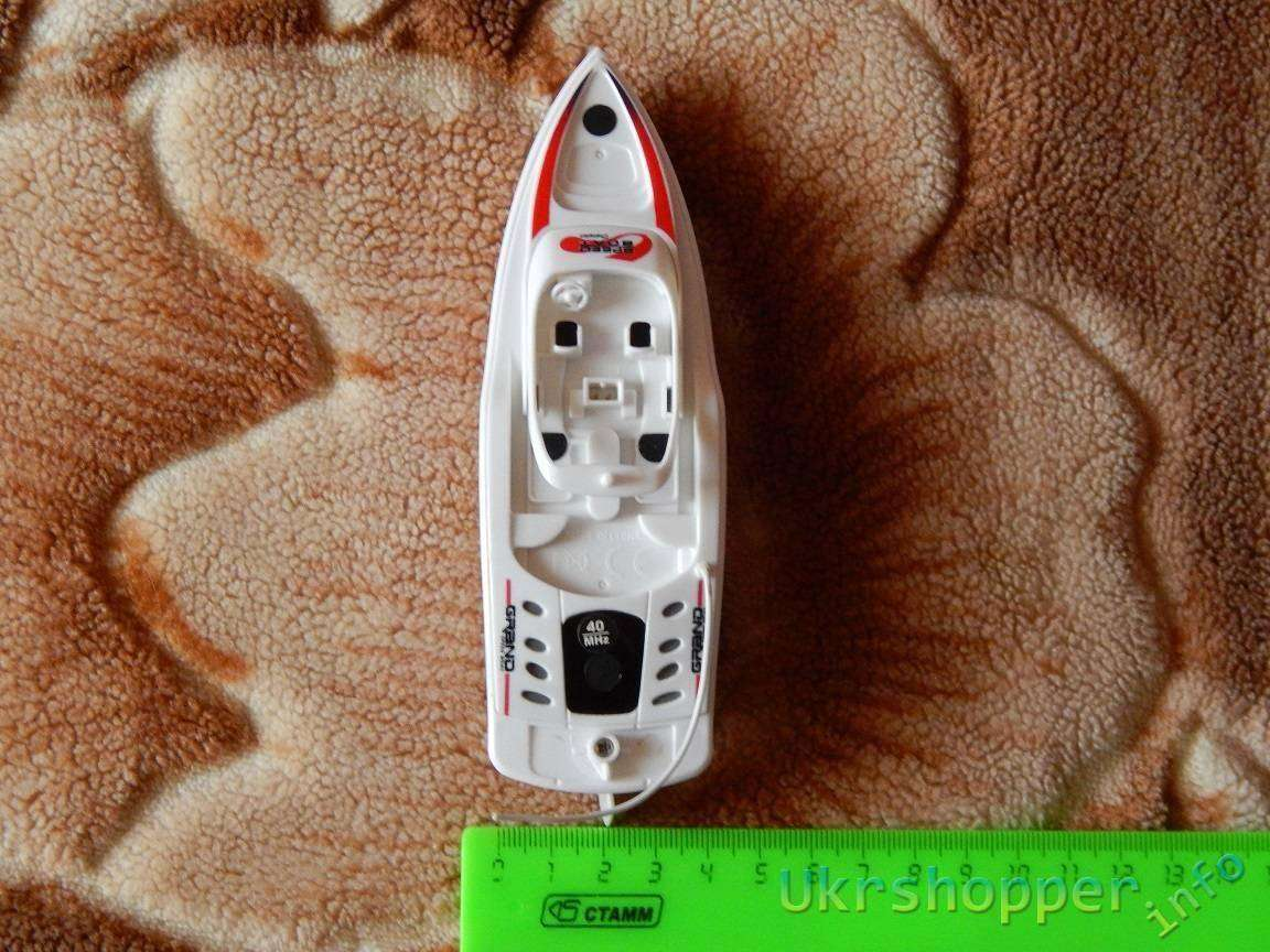 Tmart: Обзор маленькой RC лодочки с маркировкой CX3392