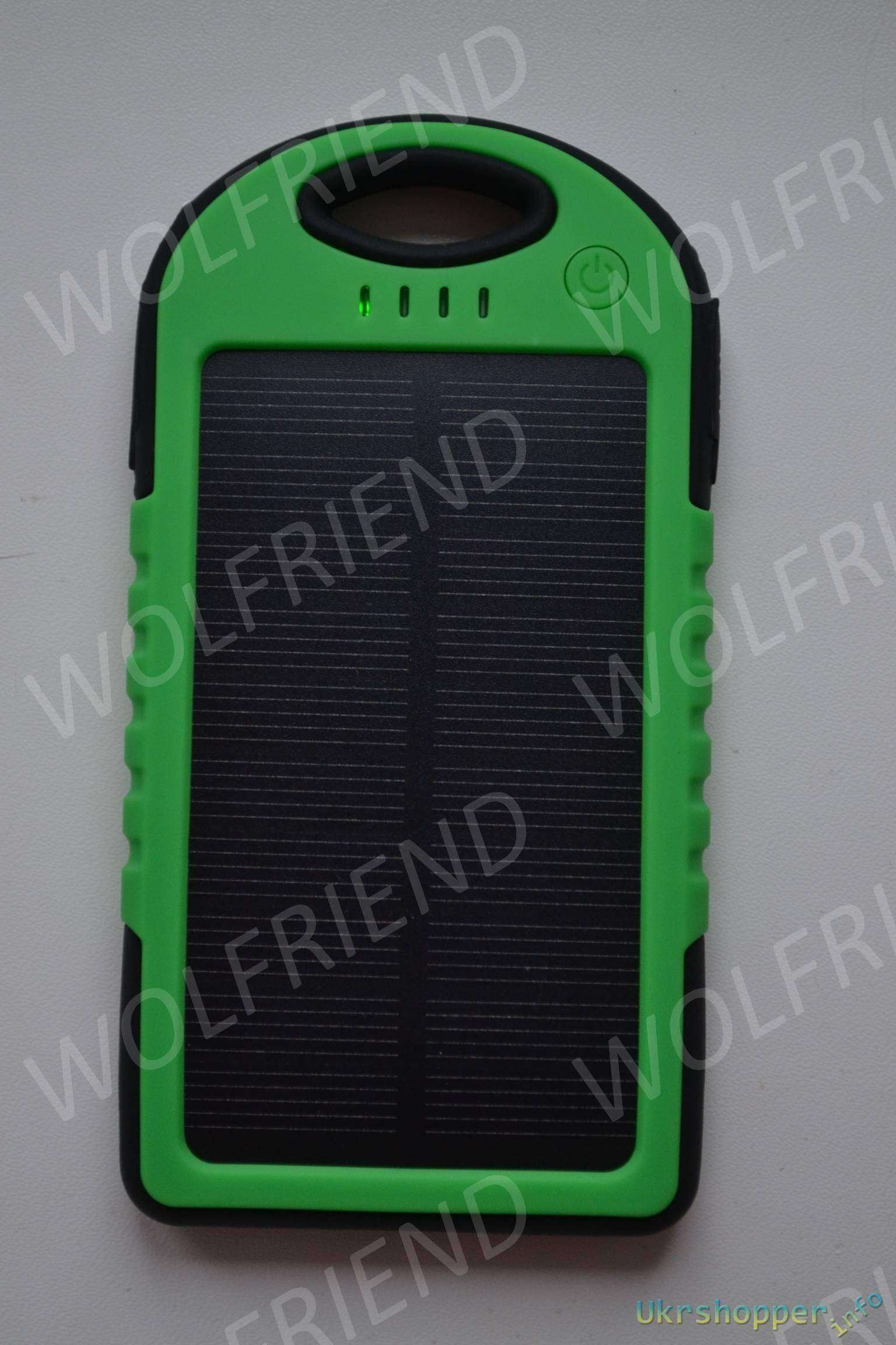 Banggood: 5000mAh Waterproof Shockproof Solar Panel Power Bank - Повербанк