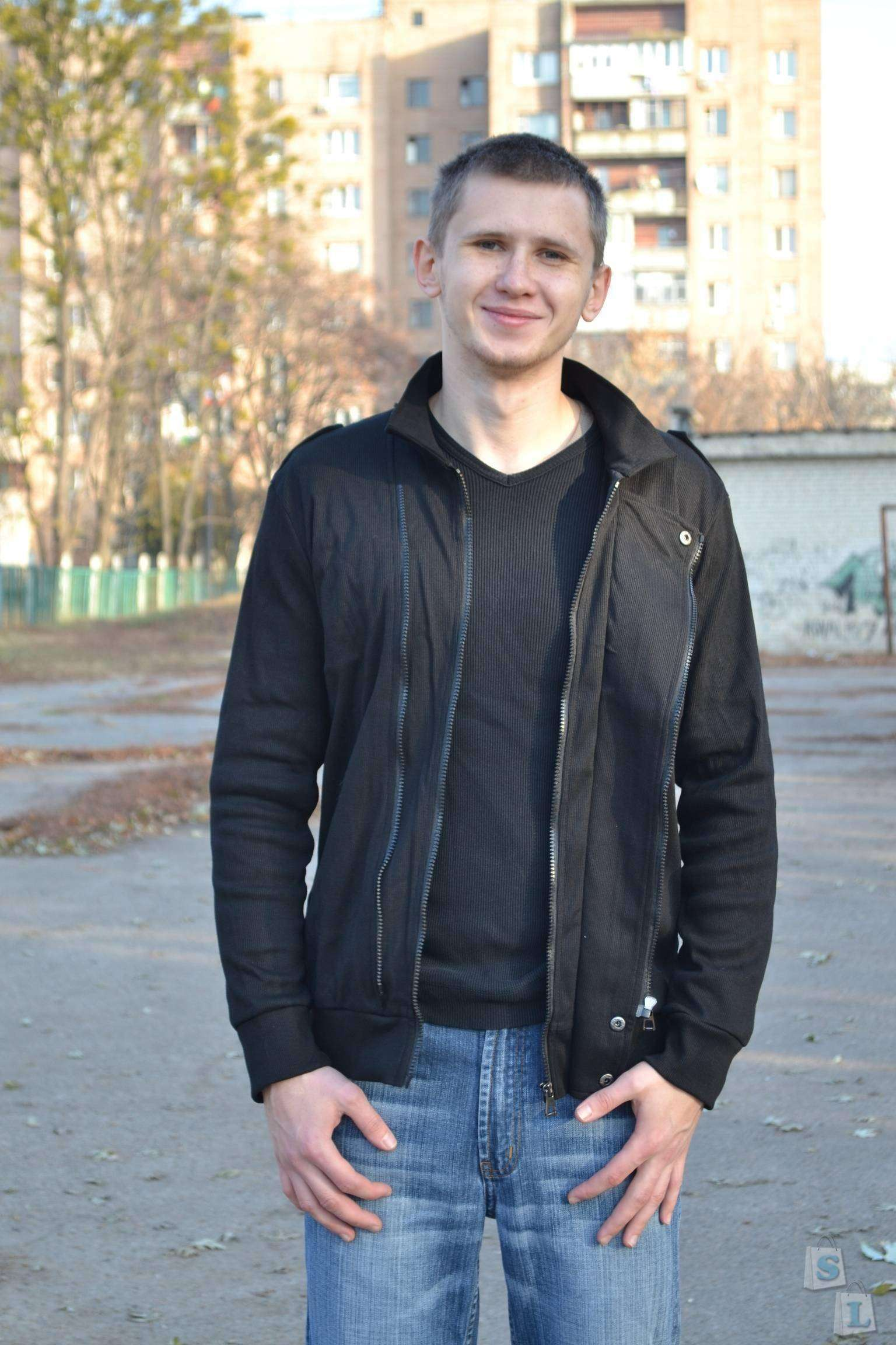 TomTop: Men Jacket Two Zippers-Обзор мужской кофты