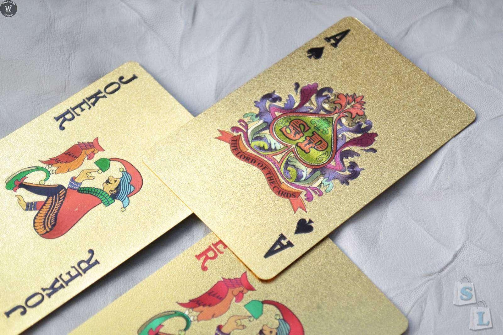 ChinaBuye: Золотая колода игральных карт (полная колода из 54 карт)