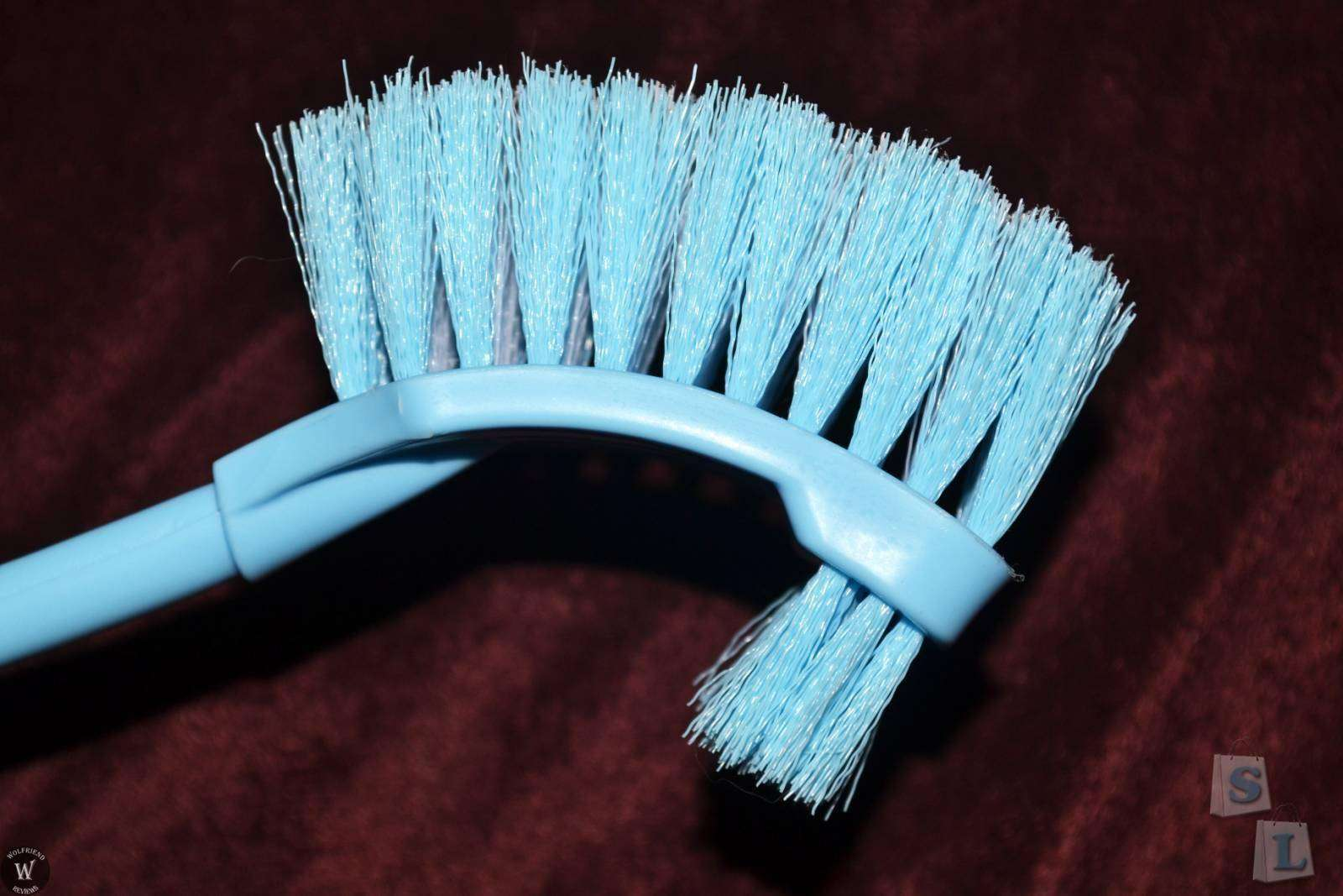 ChinaBuye: Щетка для унитаза, Home Bathroom Cleaning Tool Double Sides Toilet Scrubbing Brush