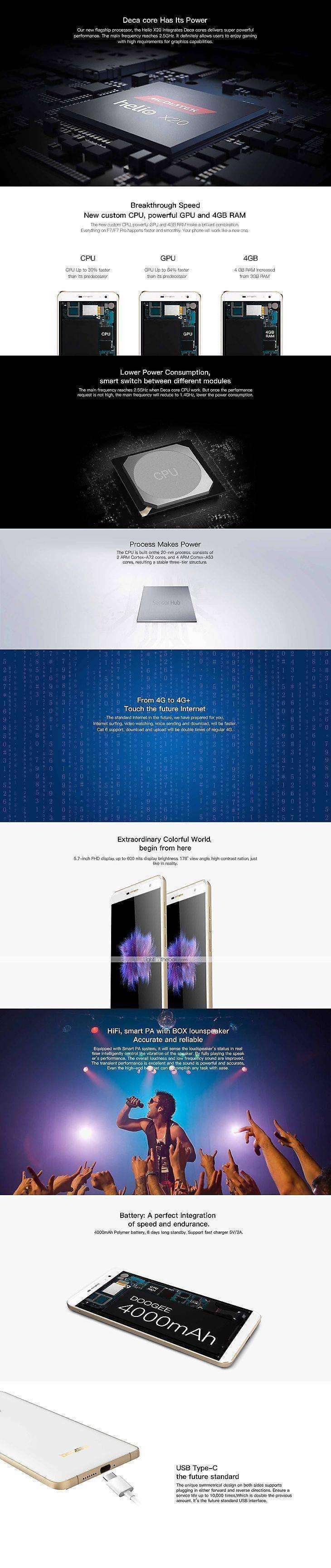 Lightinthebox: В магазине LightInTheBox открыт предзаказ на DOOGEE F7Pro, скидка 30$ и эксклюзивные подарки