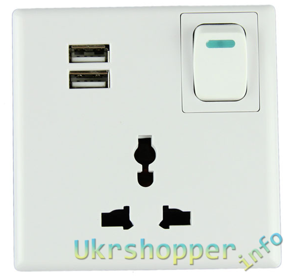 Aliexpress: Настенная розетка с USB портами для зарядки