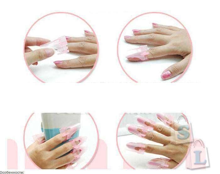 BuyinCoins: Пластиковые защитные клипсы для ногтей