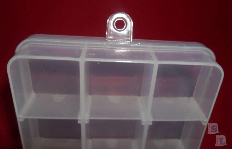 BuyinCoins: Пластиковый регулируемый контейнер для мелких деталей на 15 ячеек