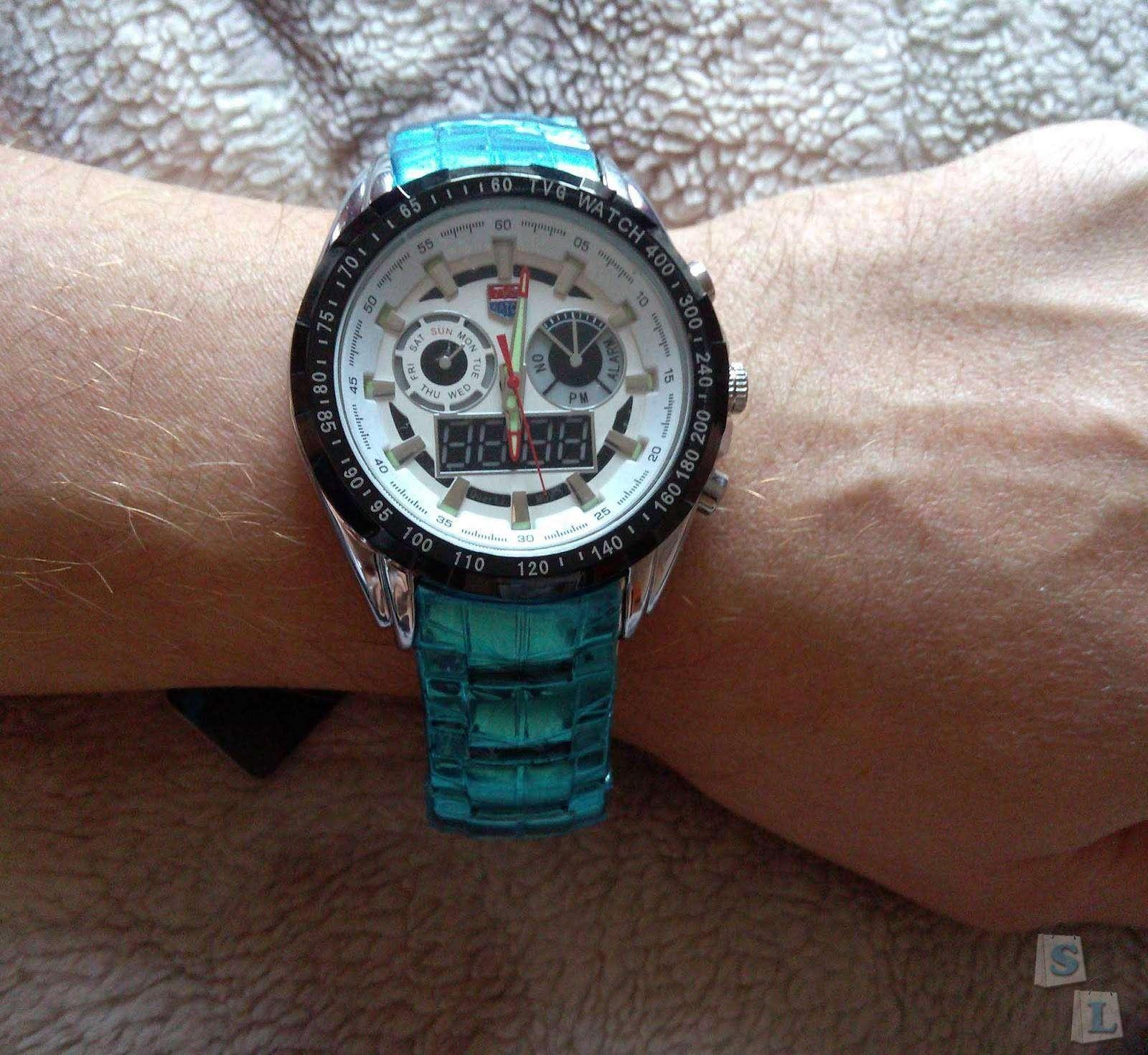 GearBest: Tvg KM- 579  часы с двойным механизмом