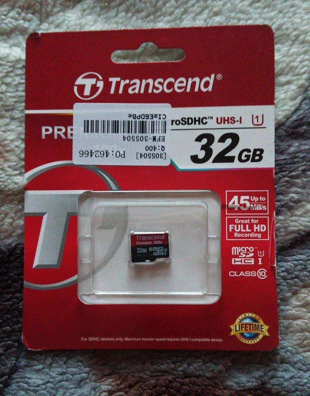 TinyDeal: Отличная флешка в смартфон TRANSCEND Premium 32GB Class 10