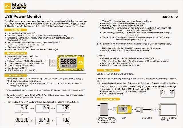 Matek USB тестер - Aliexpress