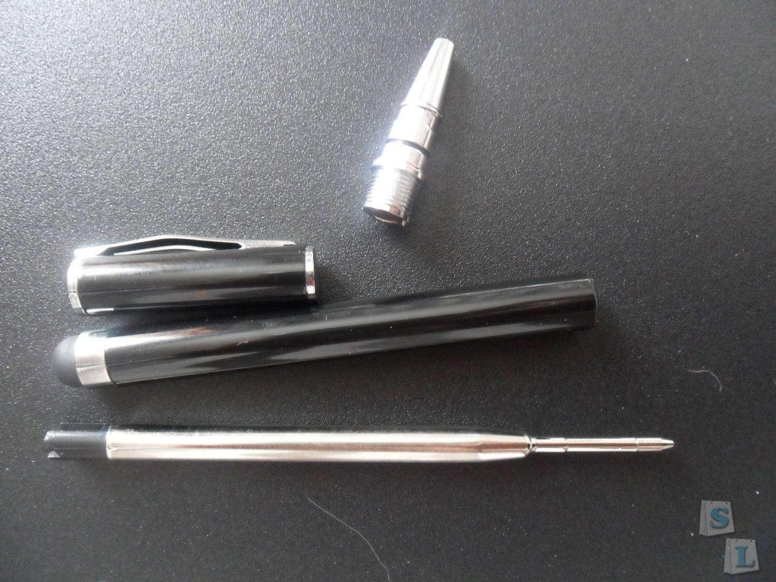 BuyinCoins: Черная шариковая ручка-стилус