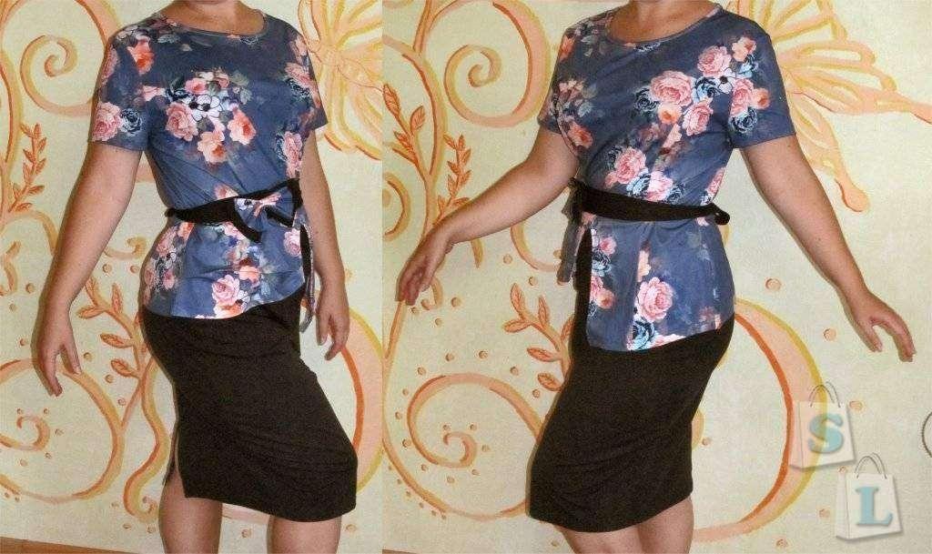 Banggood: Женский комплект: блузка, юбка