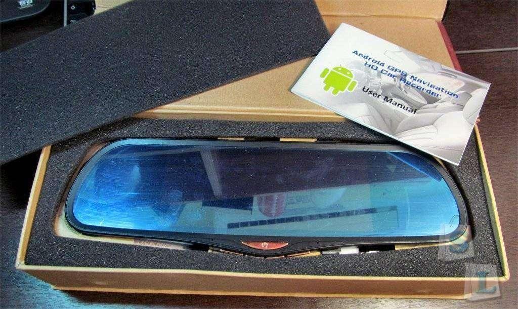 GearBest: Зеркало-комбайн с огромным экраном (android, регистратор, GPS навигатор, камера заднего вида и др.)