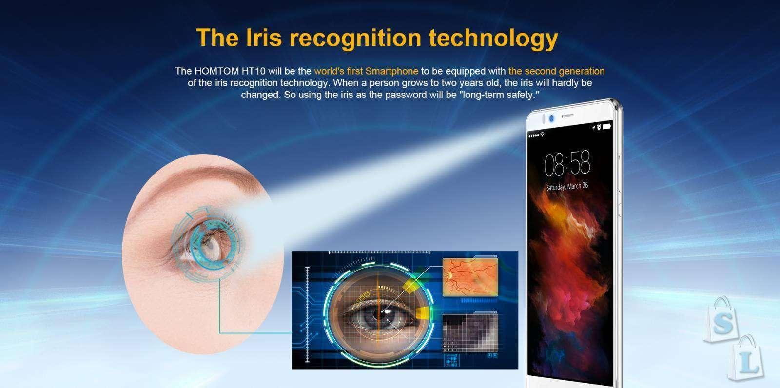 Lightinthebox: Флагман HOMTOM HT10 - первый смартфон с 10-ти ядерным процессором и защитой  данных с помощью сканера оболочки глаза