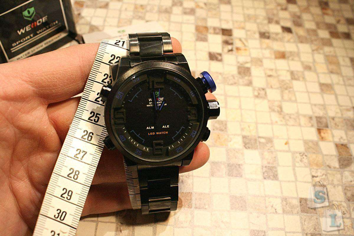 Banggood: Weide WH2309B Men Watch – обзор мужских часов