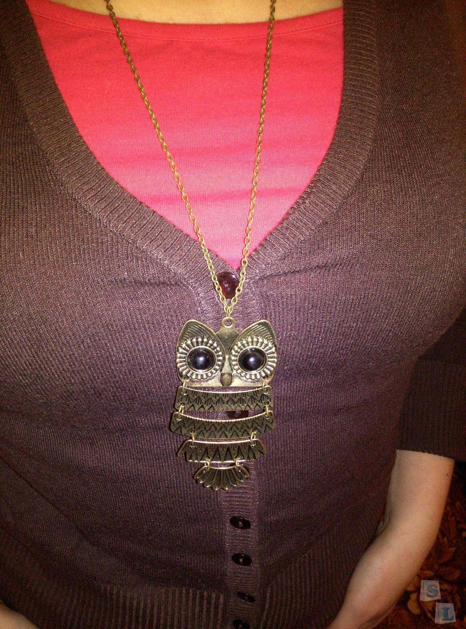 TinyDeal: Кулон в виде совы (желтый)