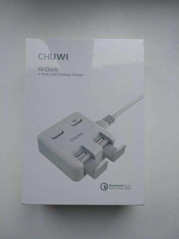 GearBest: CHUWI W-100 зарядка-подставка на 4 USB с 1 QC 3.0