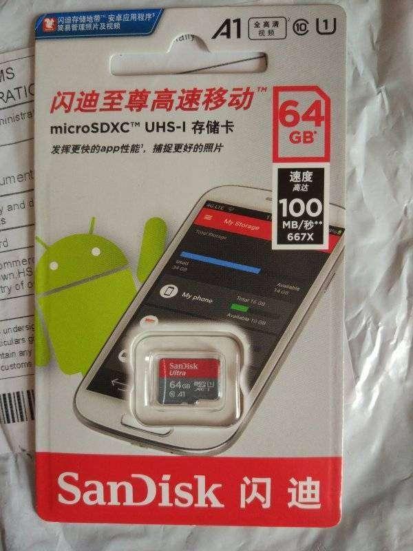 TomTop: Карта памяти SanDisk Ultra 64GB microSDXC UHS-I или расширяем память планшета