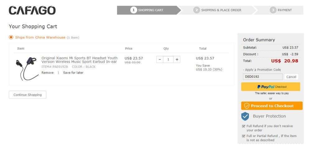 Другие - Китай: Беспроводная гарнитура Xiaomi Mi Sports BT Headset Youth Version