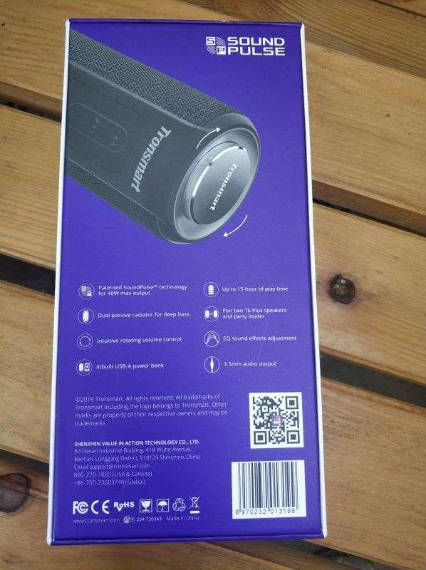 Geekbuying: Tronsmart Element T6 Plus портативная колонка с Bluetooth 5.0, мощностью 40W Max и TWS