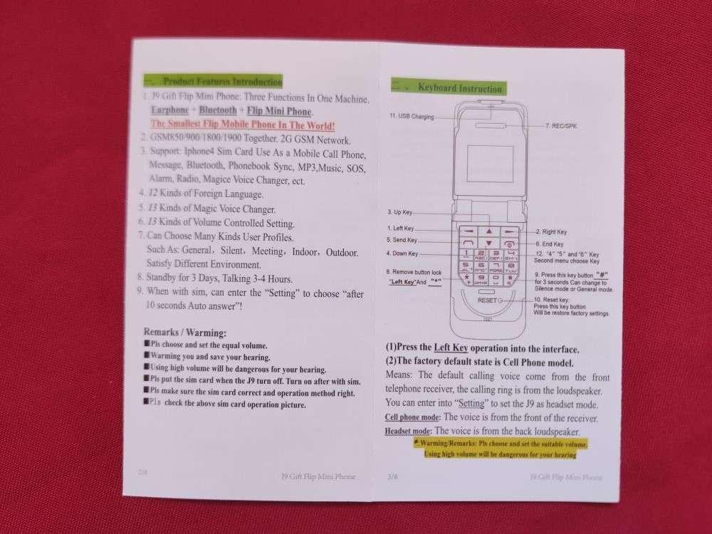 Другие: Обзор крайне маленького телефона раскладушки J9