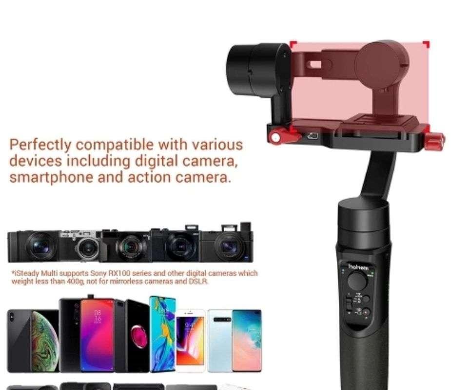 TomTop: hohem iSteady Multi 3-осевой стабилизатор камеры или смартфона (полезная нагрузка 80-400 г)