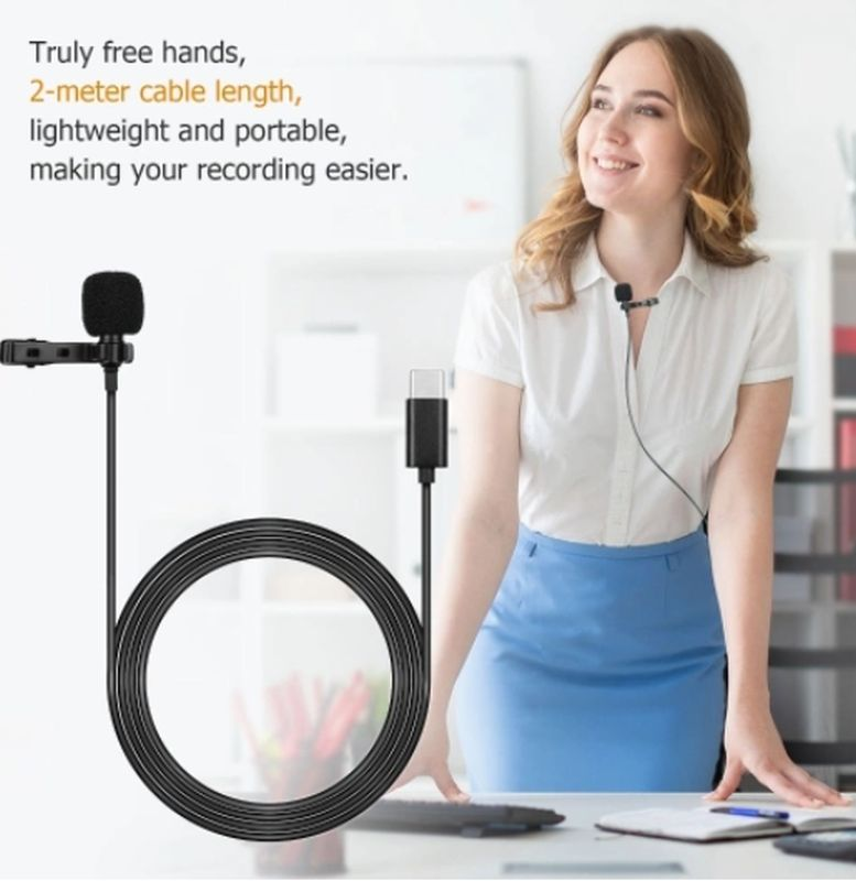 TomTop: Микрофон 'петличка' с кабелем в 2 метра и под Type-C