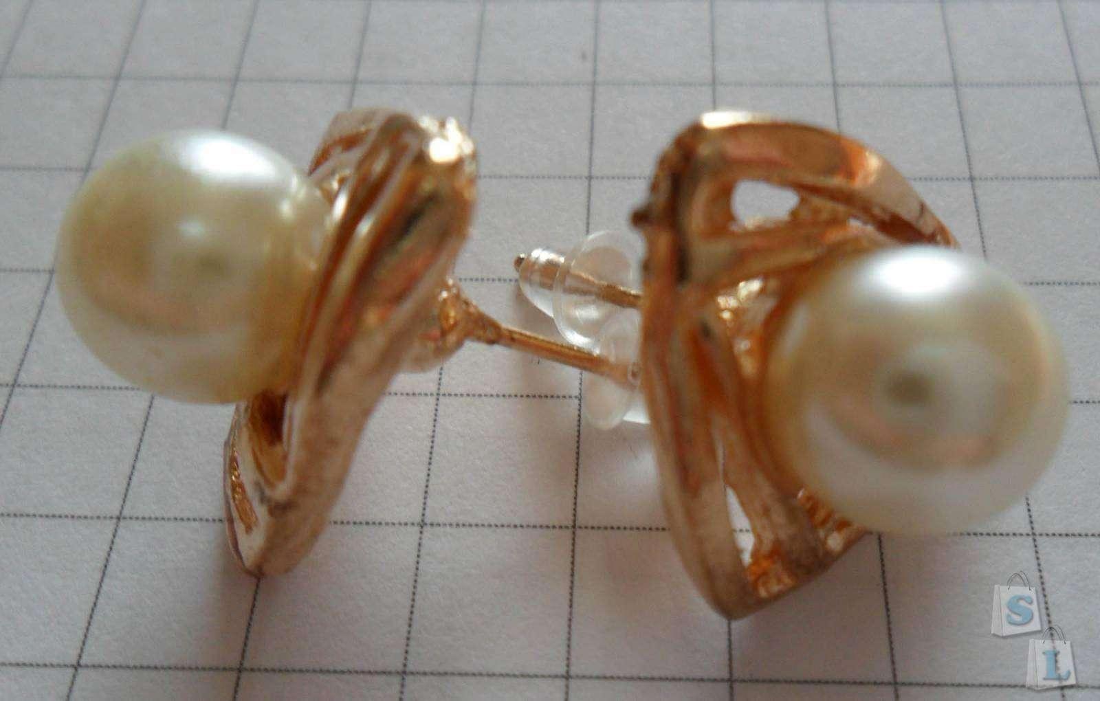 Lightinthebox: Серьги-гвоздики с искуственным жемчугом
