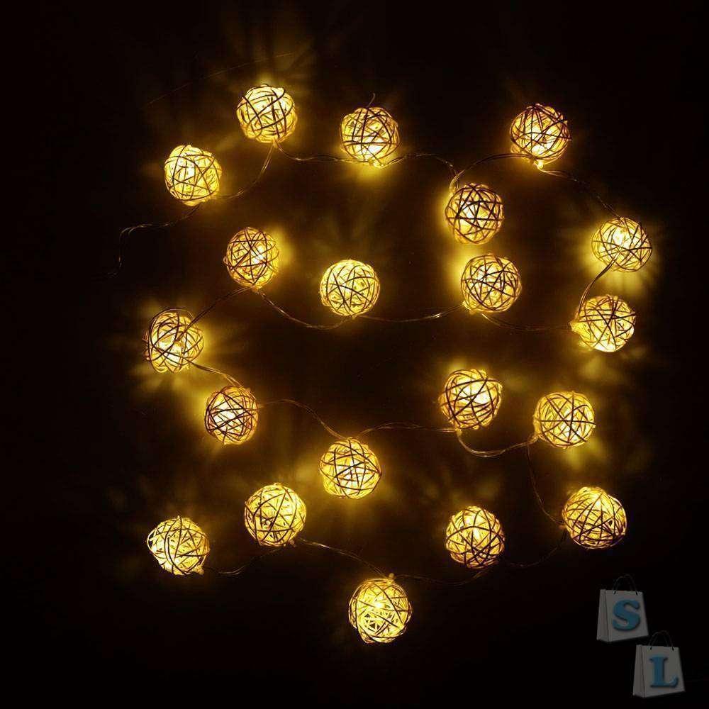 TomTop: Готовимся к Новогодним праздникам- гирлянда из ротанга.