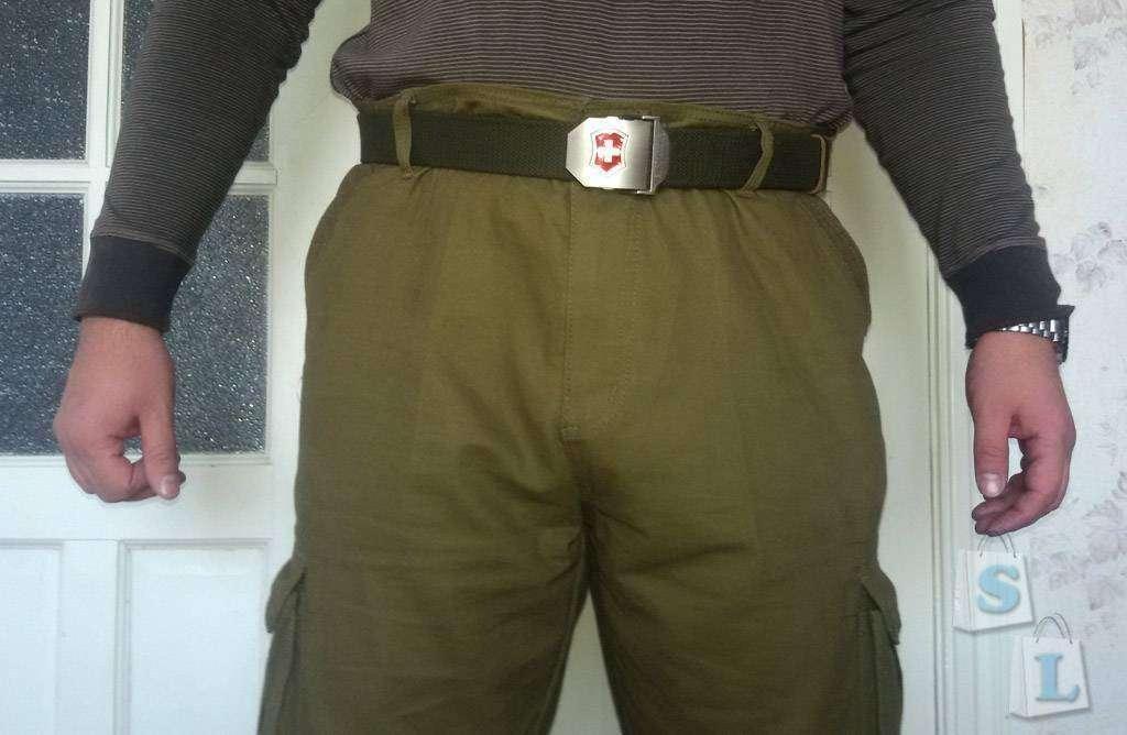 Banggood: Брюки-карго в стиле милитари для крупных мужчин