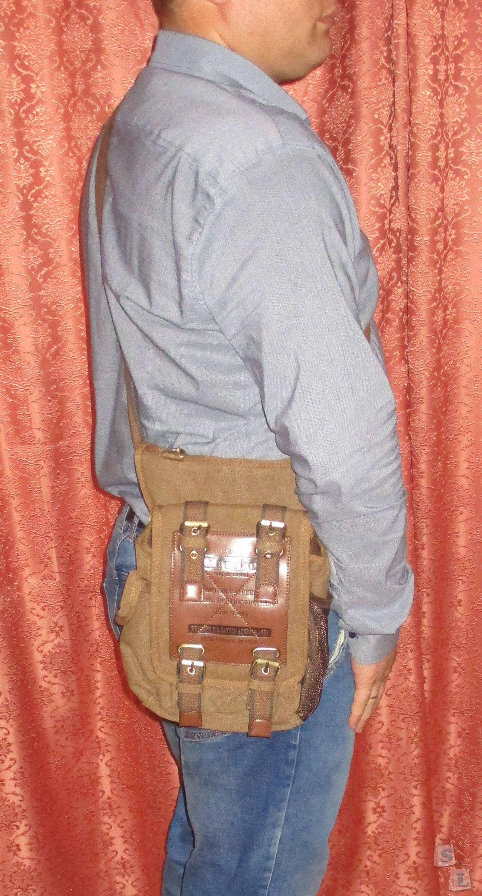 GearBest: Набедренная сумка из холста KAUKKO FH07