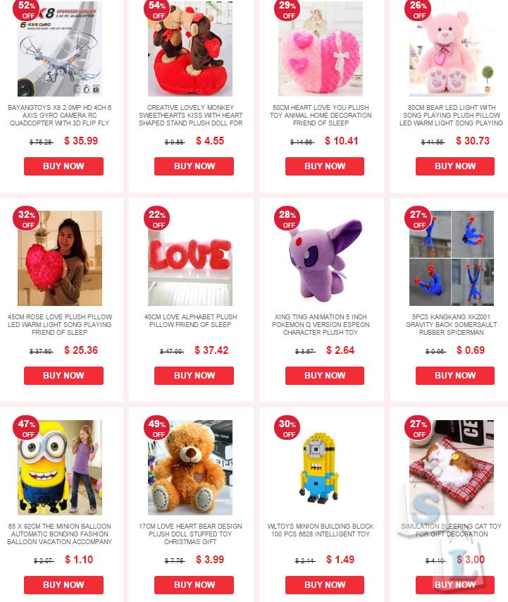 EverBuying: Выбирай подарки на день Валентина по низким ценам от Everbuying