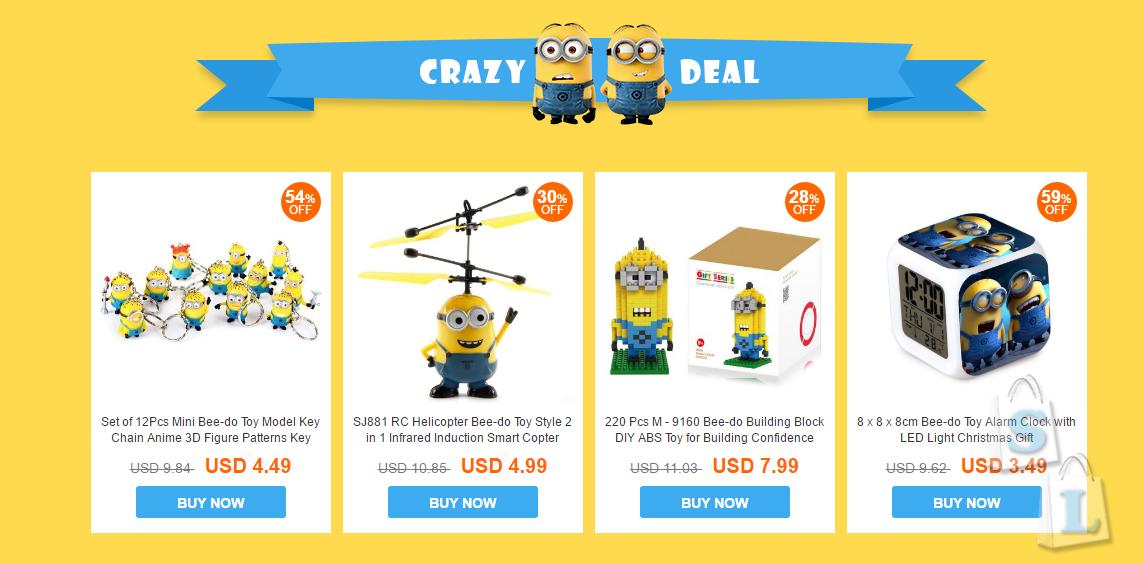 EverBuying: Супер распродажа коллекции Миньонов для всей семьи Everbuying