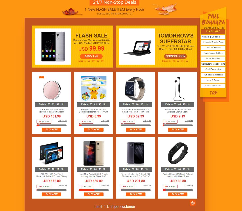 EverBuying: Акция распродажа Fall Bonanza от Everbuying