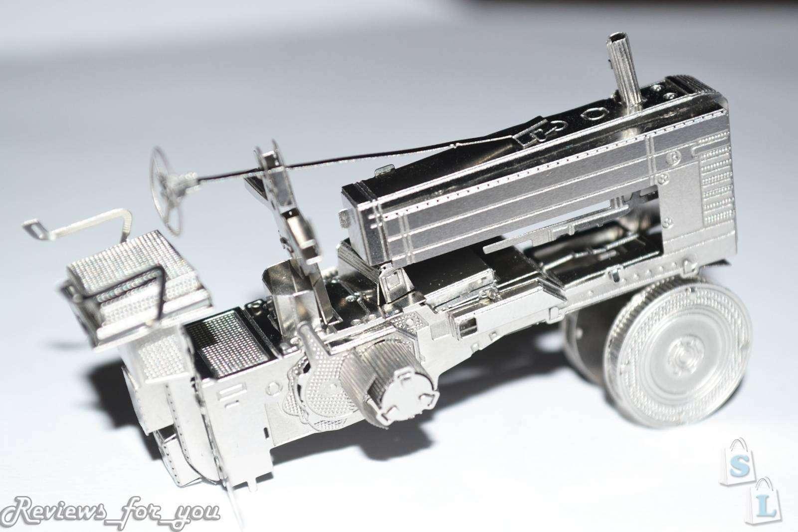 ChinaBuye: Металлический 3D пазл, который я почти удачно сложила, Farm Tractor (с. х. трактор)