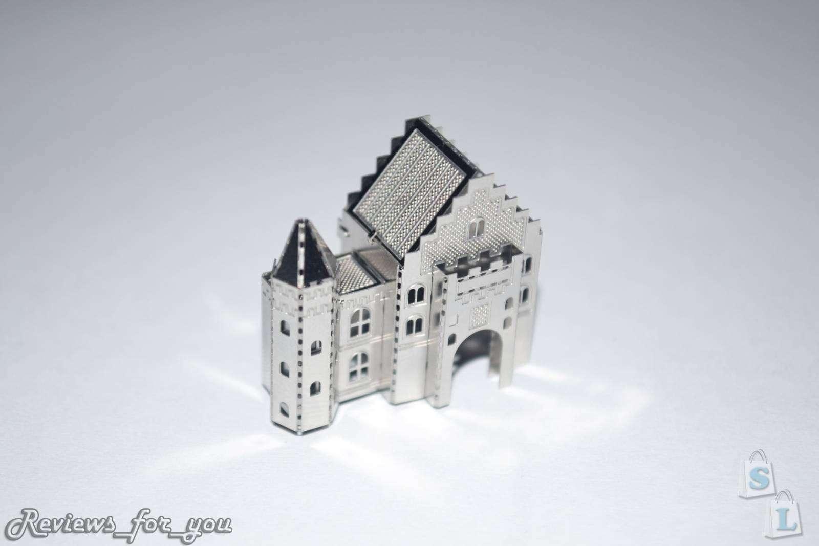 ChinaBuye: Металлический 3D пазл, маленькая модель 'Замка Нойшванштайн', Neuschwanstein Castle 3D Puzzle