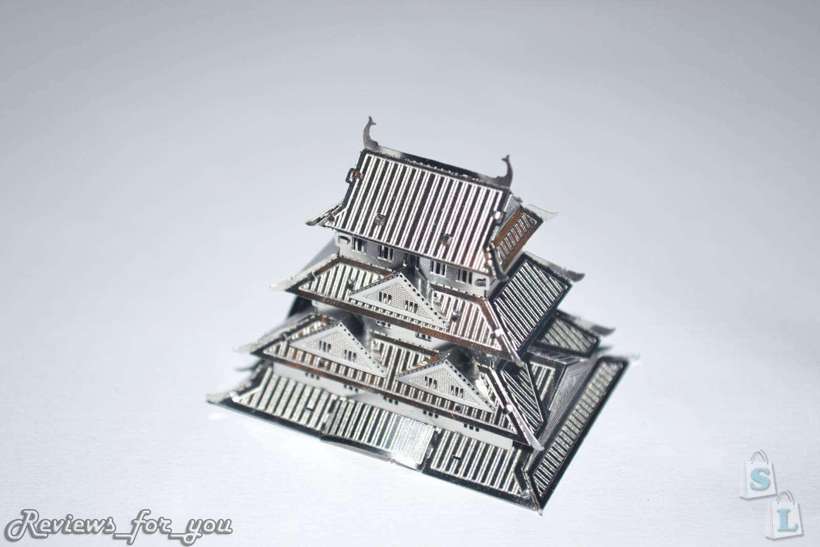 ChinaBuye: Металлический 3D пазл - 'Замок Химэдзи', Himeji Castle 3D Metallic Nano Puzzle
