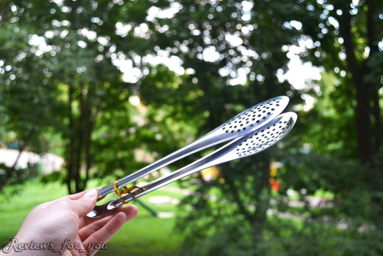 Aliexpress: 'Щипцы кондитерские большие', нужная штука для накладывания/переворачивания продуктов