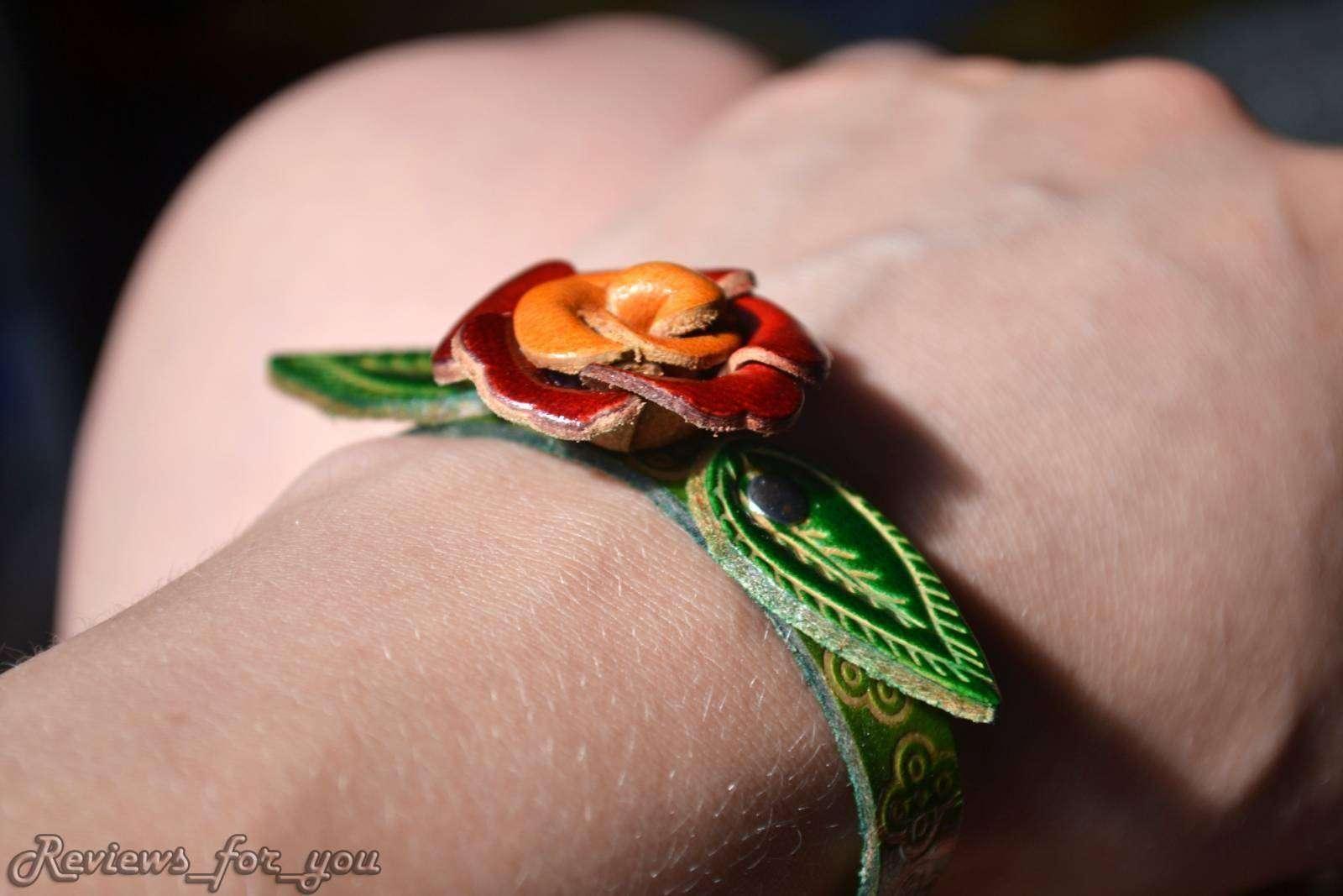 Aliexpress: Женский кожаный браслет с тиснением