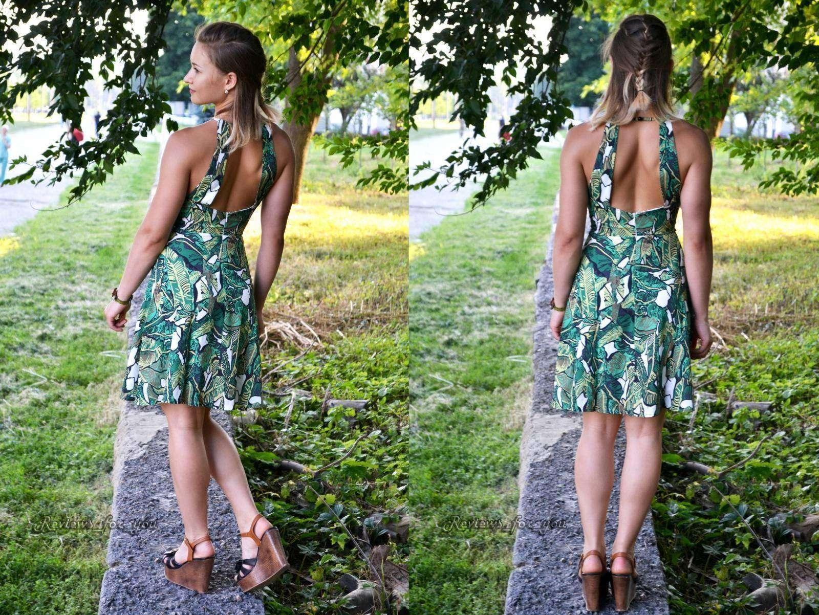 Aliexpress: Женское зеленое летнее платье (и видео-демонстрация)