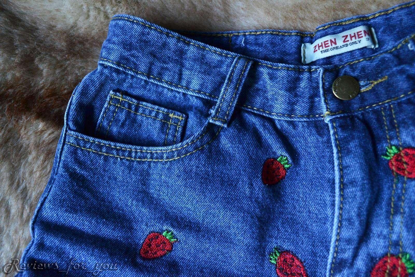 Aliexpress: Джинсовые шорты с клубничками